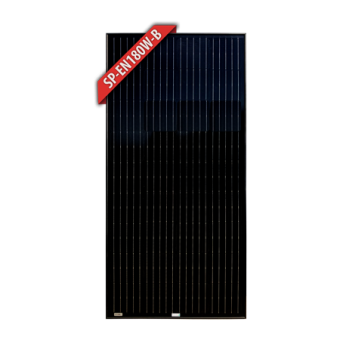 Enerdrive 180W Mono Crystalline Fixed Solar Panel, Black - Camping Solar Panels & Accessories