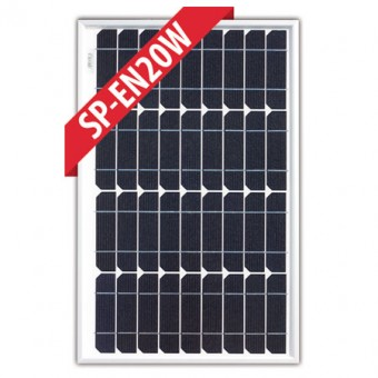 Enerdrive 20W Mono Crystalline Fixed Solar Panel - Camping Solar Panels
