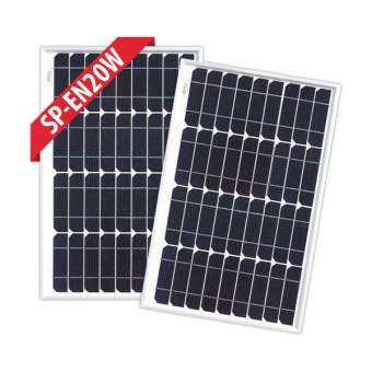 Enerdrive 2 x 20W Fixed Solar Panel Twin Pack - Camping Solar Panels