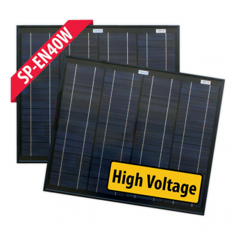 Enerdrive 2 x 40W 24V Fixed Solar Panel Twin Pack - Camping Solar Panels