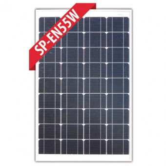 Enerdrive 55W Mono Crystalline Fixed Solar Panel - Camping Solar Panels
