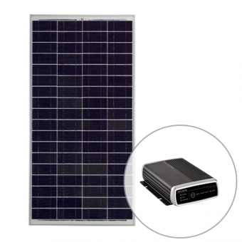 Projecta 12V 160W Polycrystalline Fixed Solar Panel with 25Amp Lead Acid Charger Pack - Solar Panel Bundles