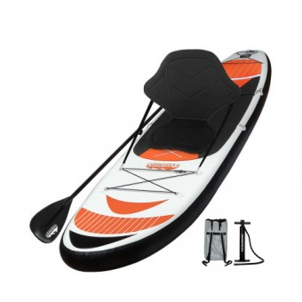 Weisshorn 3.35m Red Inflatable Stand Up Paddle Board with Adjustable Seat - Sports & Leisure