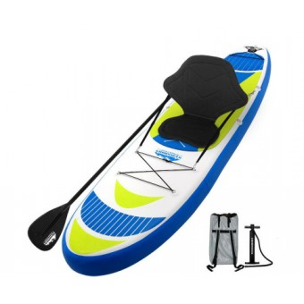 Weisshorn 3.35m Yellow Inflatable Stand Up Paddle Board with Adjustable Seat - Sports & Leisure