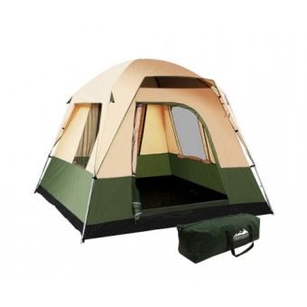 Weisshorn Green 4 Person Camping Tent - Camping Tents