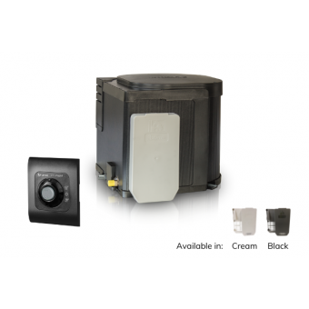 Truma UltraRapid gas hot water system with Black Cowl & Cover - Caravan Heaters & Hot Water Systems