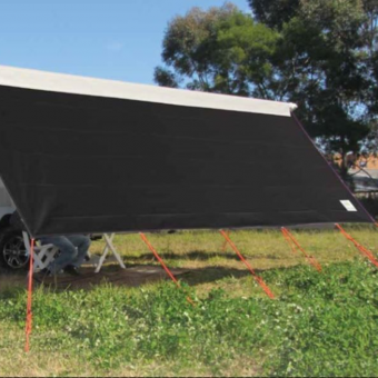 Coast V2 Black Sunscreen to suit Carefree Rollout Awnings, 10ft - 18ft - Root Catalog