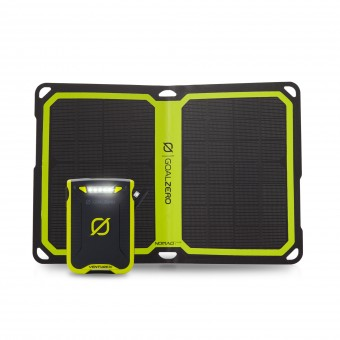 Goal Zero Venture 30 Power Bank + Nomad 7 Plus Solar Panel Pack - Camping Solar Panels
